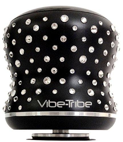 Mamba de Vibe-Tribe édition limitée avec Cristaux de Swarovski®: Enceinte à Vibration Bluetooth 18Watt, Ecran Tactile, Appels Mains Libres, Connexions en série