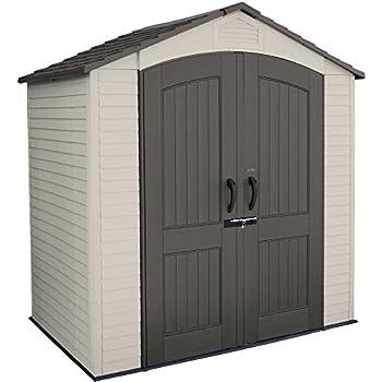 lifetime kunststoff ger tehaus gartenhaus gartenschuppen sky 305 x 244 x 244 cm lichtgrau. Black Bedroom Furniture Sets. Home Design Ideas