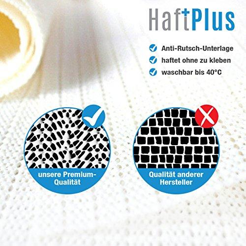 HAFTPLUS Teppichunterlage Antirutschmatte Teppich-Stopper haftet ohne zu kleben, Rutschschutz geeignet für alle glatten Böden, Gleitschutz Teppichunterleger Haftgitter Struktur, rutschfest und zuschneidbar, Anti-Rutsch-Unterlage, Maße: 200 x 100 cm - 3