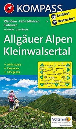 Allgäuer Alpen - Kleinwalsertal: Wanderkarte mit Aktiv Guide, Panorama, Radrouten und Skitouren. GPS-genau. 1:50000: Wandelkaart 1:50 000 (KOMPASS-Wanderkarten, Band 3) -