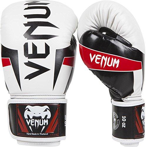Venum Elite - Guantes de boxeo para combate, color blanco,...