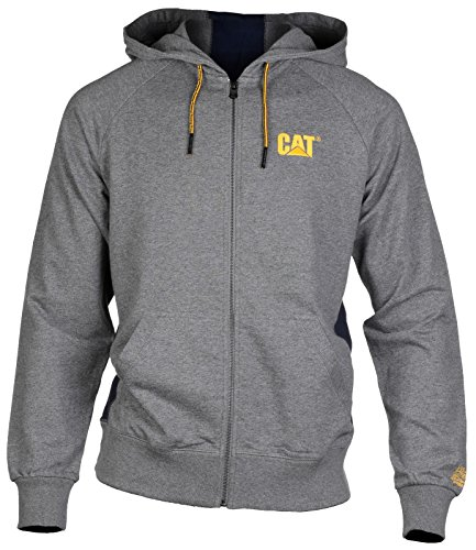 CAT Lifestyle - LOGO STRIPE - Grey - XXL - UK XXL EU / XXL UK (Stripe Pullover Chest)