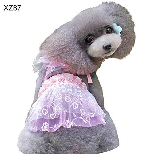 Feli546Bruce Hundezubehör, mehrlagiges Spitzenband, Faltbarer Gürtel, Haustierkleid, verstellbar, Sommer-Outfit - 1 Spitzenband