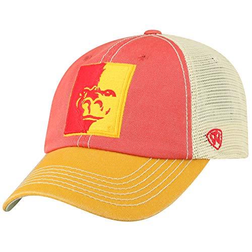 NCAA Herren Offroad-Hut, entspannte Passform, verstellbar, Netzgewebe, Team-Farbsymbol, Herren, Relaxed Fit Adjustable Mesh Offroad Hat Team Color Icon, Pittsburg State Gorillas Red, Einstellbar