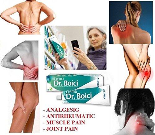DR. BOICI CREME 60g - RHEUMATISCH, MUSKEL UND GELENK SCHMERZ; SCHNELLE RELIEF von Muskel- und Gelenkschmerzen, Tendovaginitis, Lumbago, Arthritis, Rheumatismus & Gelenkprobleme 100% natürlicher Extrakt aus Höllenbohrer, Kastanie, Wacholderöl (Muskel-und Gelenkschmerzen Relief)