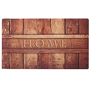 Amagabeli Rustic Indoor Non Skid Doormat Entrance Low Profile Washable Rubber Door Mat for Inside Front Kitchen Floor Outdoor Patio Porch Garage Rug Entry Way Carpet Christmas Home Decor 18