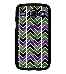 Printvisa Multicolour Zigzag Pattern Back Case Cover for Samsung Galaxy Core i8262::Samsung Galaxy Core i8260