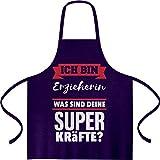 Shirtgeil Geschenke für Erzieherinnen - Erzieherin Kochschürze, Grillschürze, Latzschürze One Size Lila