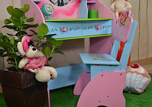 Antyki per bambini da toeletta con sgabello per bambini bambine