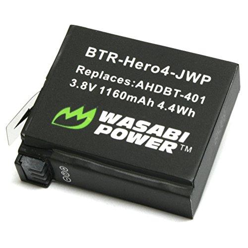 Wasabi Power Batterie für GoPro HERO4 und GoPro AHDBT-401