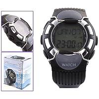SODIAL (R) Sport impulso frequenza cardiaca contatore di caloria orologio con il monitor nero