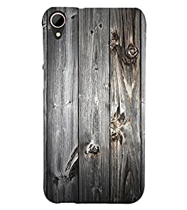 printtech Wooden Pattern Back Case Cover for HTC Desire 828 dual sim