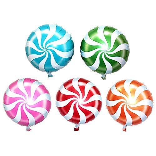 Trixes 6 Stück Multicolor Lollypop Swirl Folien Luftballons für Geburtstage Partues Feste und Feiern