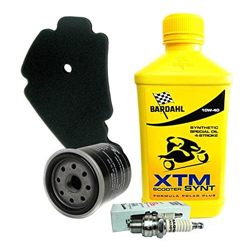 Kit tagliando Bardahl XTM 10W40 filtro olio aria originale candela Beverly 250