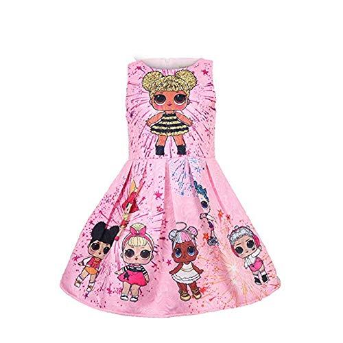 QYS Mädchen Kleid LOL Rock Tutu Kleinkind Kinderkleidung Geburtstagsgeschenk Party Kostüm Alter 3-8 - Puppe Kostüm Kleidung