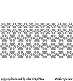 53, Sticker, Hundepfoten, 27 x 6,4 cm (26