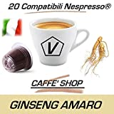 Capsule Compatibili Nespresso, Capsule Miscela'Ginseng Amaro Malese' Linea Espresso (Kit Assaggio 20 Capsule)