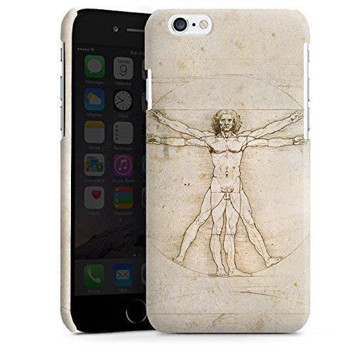 Apple iPhone 4 Housse Étui Silicone Coque Protection Léonard de Vinci Les Proportions du Corps Humain Art Cas Premium brillant