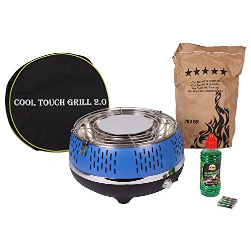 BBQ Tischgrill Cool Touch Grill 2.0 Blau - Grillset