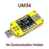 RUIDENG UM34 / UM34C Für APP USB 3.0 Typ C Voltmeter DC Amperemeter Spannung Stromzähler Batterieladezähler Kabel Widerstandsmessgerät