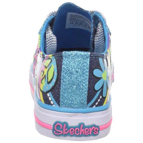 Skechers Shuffles Groovy Baby, Baskets mode fille Bleu (Dntq)