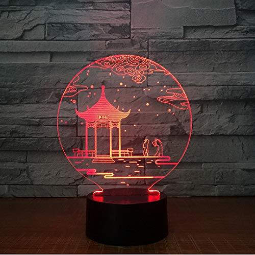 7 Farben,Die Schreibtischlampe 3D -Lampen -Neuheit Led -Nachtlichter Led -LichtValentinesDayGiftts ()