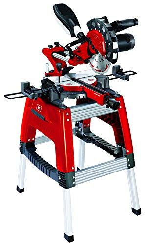 Einhell Universal-Kapp-Gehrungssäge m. Untergestell für Metall RT-XM 305 U, Plastik und Holz, 1.800 W, doppelt gelagerte Zugfunktion, Softstart
