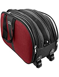 Hibhasu Cabin Luggage Bag, Travel Duffle Trolley Bag Attractive Design With Wheels For Travelling - 21 X 9 X 13...
