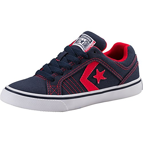 Converse Unisex-Kinder Gates OX Sneaker Blau (Navy 410) 33 EU