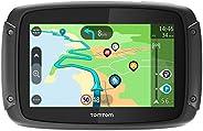 TomTom Rider 500 Motorrad-Navi (4,3 Zoll, mit kurvigen und bergigen Strecken speziell für Motorräder, Updates über Wi-Fi, Le