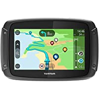 TomTom Rider 500 - GPS para Motocicletas (4,3 Pulgadas, con Carreteras montañosas específicas para Moto, actualizaciones Mediante Wi-Fi, Compatible con Siri y Google Now) Color Negro