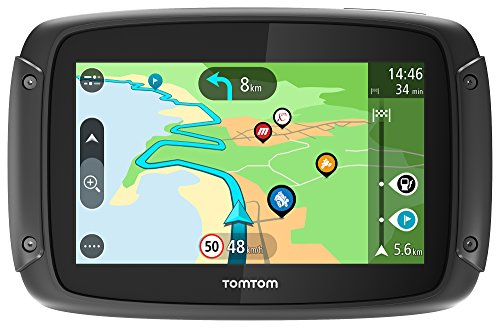 TomTom Rider 500 - GPS para Motocicletas (4.3 Pulgadas con Carreteras montañosas, actualizaciones Mediante Wi-Fi, Compatible Siri y Google Now, Traffic y radares Tráfico para Toda la Vida, 49 Mapas)