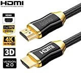 BisLinks® Ultra HD 4K HDMI v2.0 Kabel 1M Hoch Speed Prämie Gold Plated Verbinder Braided Lead 3D 2160p 1080p HDR Blue-Ray UHD HDTV Xbox Playstation Laptop with Ethernet Audio Return