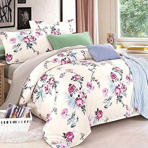JWANS Luxus Chinesischen Landhausstil Tröster Tagesdecke Bettbezug Bettlaken Baumwolle Königin King Size Silk Bettwäsche Set -