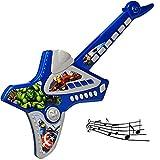 Unbekannt 2 Stück _ elektrische E-Gitarren - Avengers - akustische Kindergitarren - mit Tasten - ohne Saiten - spielt Töne & Lieder ! - Verzerrer ! - für Kinder - aus K..