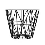 ferm LIVING Wire Drahtkorb Medium, schwarz  50cm H 40cm