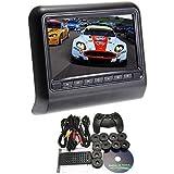 """Nuevo de Sytle 9 """"reposacabezas Slot-In Car DVD Player con transmisor FM / IR / USB / SD / juego de la radio (1 pieza)"""