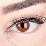 Braune Premium Kontaktlinsen 'Jasmine Choco' Farbige Linsen Ohne Stärke Braun + Behälter von Glamlens, weiche 3-Monatslinsen im 2er Pack