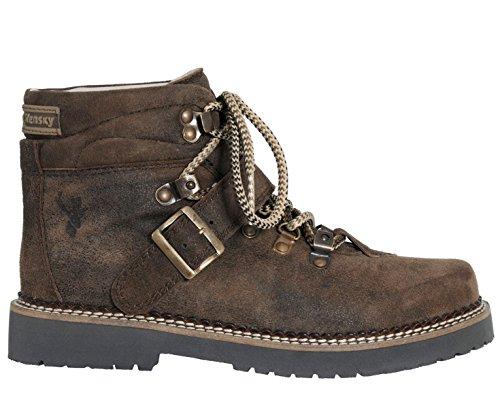 Spieth & Wensky Damen Trachten Boots Stiefel Erna Nappa Crash braun Braun