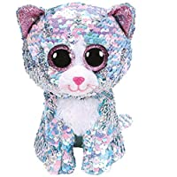 Ty Flippables TY36674 Sequins Whimsy the Cat Soft Toy, 15 cm, Multi-Coloured