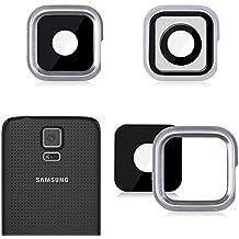 Reemplazo repuesto para Samsung Galaxy S5 lente de la cámara trasera y anillo