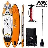 Aqua Marina Magma 2019 Sup - Tabla de Paddle Surf (Hinchable), Tabla + Remo Sport III + Leash
