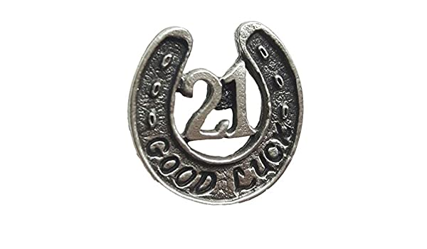 Good Luck 21st Birthday Handcrafted From Pewter Lapel Pin Badge Gift Bag