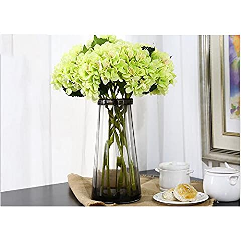 ZQ@QX6 French Hydrangea flowers artificial flowers,greenArtificial Flowers