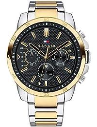 Tommy Hilfiger Herren Multi Zifferblatt Quarz Uhr mit Edelstahl Armband 1791559