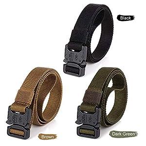 CHOUBAGUAI Taktischer Gürtel Tactical Quick Release Belt Mit Hochleistungsschnalle Für Outdoor Camping Bergsteigen Klettern Training Jagd