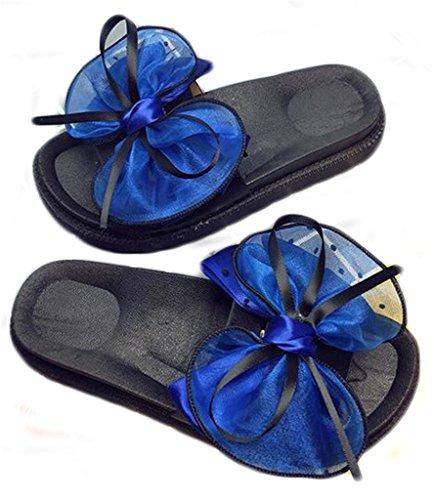 NEWZCERS I pistoni piani delle donne di modo, l'arco di estate piega la parola i pattini della spiaggia inferiori Blu