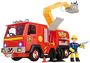 simba 109257661smo sam le pompier camion de pompier jupiter jeux et jouets. Black Bedroom Furniture Sets. Home Design Ideas