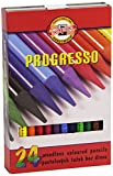 KOH-I-NOOR Progresso Woodless Coloured Pencil Set (Set of 24)