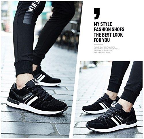 Hommes Léger Chaussures De Course 2017 Sneakers En Automne Hiver Sneakers En Plein Air Noir